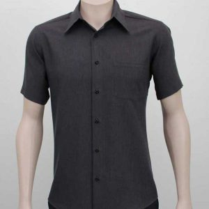 Short Sleeve Company Shirt Charcoal By Loop Workwear NZ