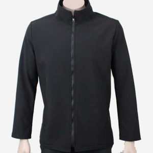 Climate Soft Shell Company Jacket Black By Loop Workwear NZ