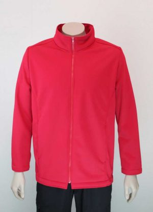 Climate Soft Shell Company Jacket Red By Loop Workwear NZ
