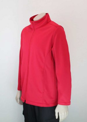 Climate Soft Shell Company Jacket Red Aspect By Loop Workwear NZ