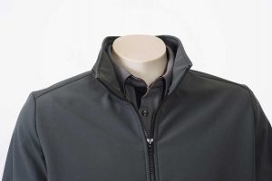 Climate Soft Shell Company Jacket Charcoal Close By Loop Workwear NZ