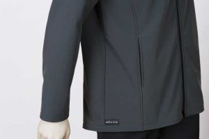 Climate Soft Shell Company Jacket Charcoal Pocket By Loop Workwear NZ