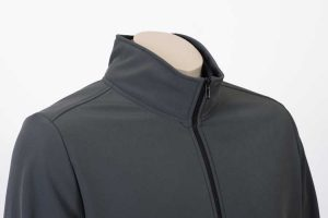 Climate Soft Shell Company Jacket Charcoal Collar By Loop Workwear NZ