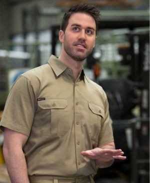 Cotton Short Sleeve Work Shirt 190GSM By Loop Workwear NZ
