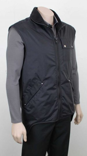 Elements Company Vest Black Angle By Loop Workwear