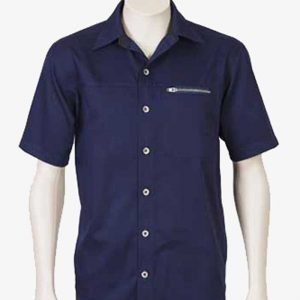 Retro Work Shirts Navy By Loop Workwear NZ