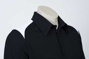 Shoulder Contrast Black Polo By Loop Workwear NZ