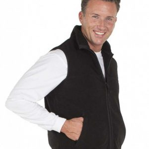 Polar Fleece Work Vest Black Men By Loop Workwear