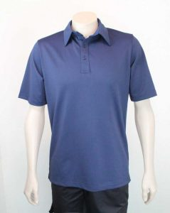 Pinhole Work Polo Navy By Loop Workwear NZ