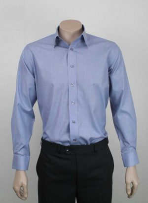 Kent Business Shirt Chambray Blue By Loop Workwear NZ