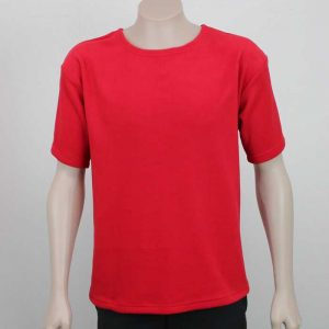 Microfleece T Shirt Red By Loop Workwear NZ