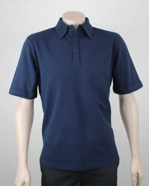 Pique Cotton Polo Navy By Loop Workwear NZ