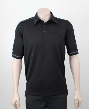 Karaka Workwear Polo Shirt Black Front By Loop Workwear NZ