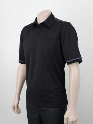 Karaka Workwear Polo Shirt Black By Loop Workwear NZ