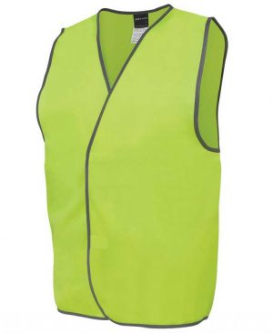 Basic Hi Vis Safety Vest Yellow By Loop Workwear NZ