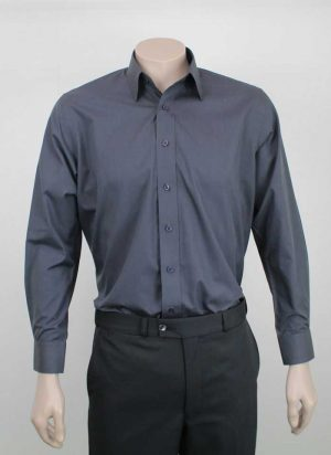 Bombay Egyptian Cotton Shirt Charcoal By Loop Workwear NZ
