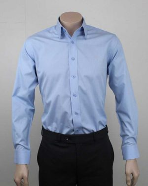 Bombay Egyptian Cotton Shirt Blue By Loop Workwear NZ