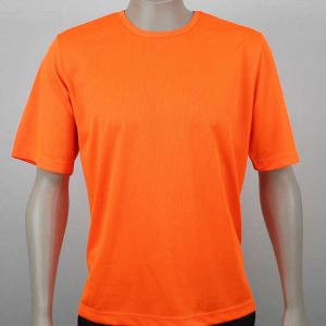 Eco Hi Vis T Shirt Short Sleeve Shirt Orange By Loop Workwear NZ