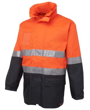 Hi Vis Day Night Long Line Industry Jacket Orange By Loop Workwear NZ