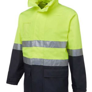 Hi Vis Day Night Long Line Industry Jacket Yellow By Loop Workwear NZ