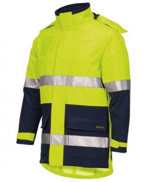 Hi Vis Day Night Soft Shell Industry Jacket Yellow By Loop Workwear NZ