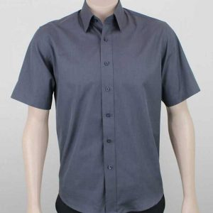 Kent Short Sleeve Corporate Shirt Charcoal By Loop Workwear NZ