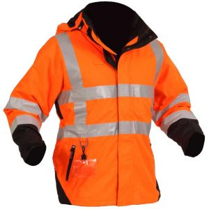 Extreme Sherpa Jacket Hi Vis Orange Side By Loop Workwear NZ