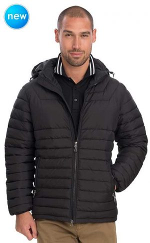 Heli Puffer Jacket Black By Loop Workwear NZ