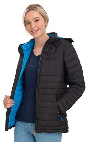 Heli Puffer Jacket Women Blue By Loop Workwear NZ