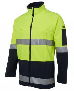 Hi Vis Soft Shell Jacket Yellow Black By Loop Workwear NZ