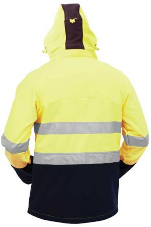 JNPSS YBL Bison Stamina Soft Shell Jacket Back By Loop Workwear NZ