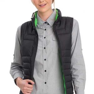 v900 Green Heli Puffer Vest Women By Loop Workwear NZ