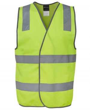 Basic Hi Vis Safety Vest in Lime Colour By Loop Workwear NZ