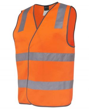 Basic Hi Vis Safety Vest in Orange Colour Side By Loop Workwear NZ