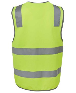 Basic Hi Vis Safety Vest in Lime Colour Back By Loop Workwear NZ
