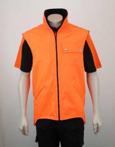 Bio Cotton Fleece Drill Hi Vis Drill Vest By Loop Workwear NZ