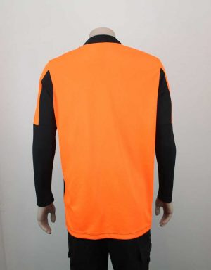Hi Vis Relief Shirt Long Sleeve Orange n Black Back By Loop Workwear NZ