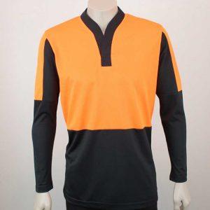 Hi Vis Relief Shirt Long Sleeve Orange n Black By Loop Workwear NZ