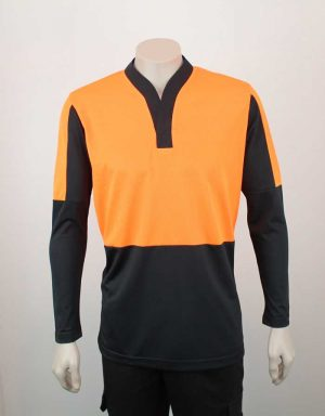 Hi Vis Relief Shirt Long Sleeve Orange n Black By Loop Workwear NZ