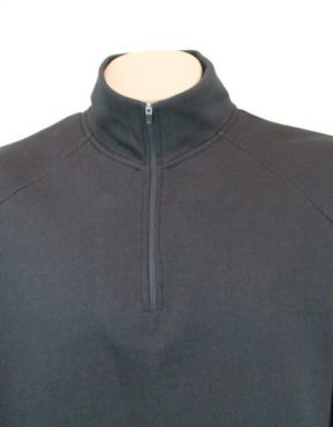 Wanaka Cotton Sweatshirt Front zipped up close view By Loop Workwear NZ