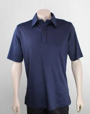 Bio Cotton Polo in Navy colour By Loop Workwear NZ
