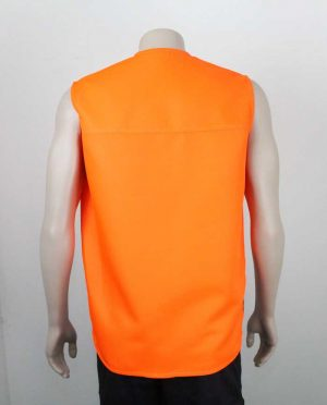 Tencel Drill Hi Vis Vest Orange Back By Loop Workwear NZ