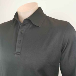 Bio Cotton Polo Shirt Front Close View From Loop Workwear NZ