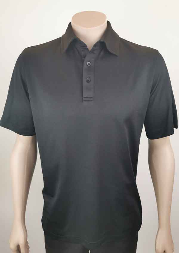Bio Cotton Polo Shirt in Black From Loop Workwear NZ