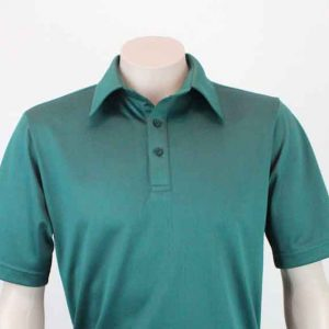 Pinhole Recycled Polyester Polo Bottle Green By Loop Workwear NZ