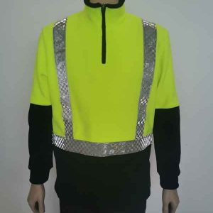 Recycled Polyester Hi Vis Fleece Sweatshirt