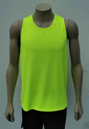 Recycled Polyester Hi Vis Singlet
