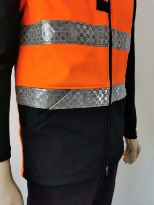 Hi Vis Softshell Vest Large Pockets