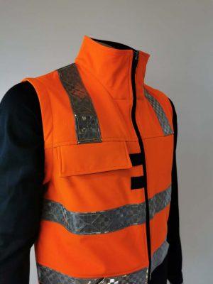 Hi Vis Softshell Vest Large Chest Pocket
