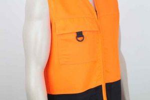 Hi Vis Vest With Pockets Close View